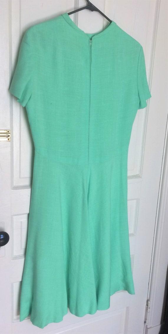 Pauline Trigere 1950's Vintage Linen Dress Mint G… - image 3
