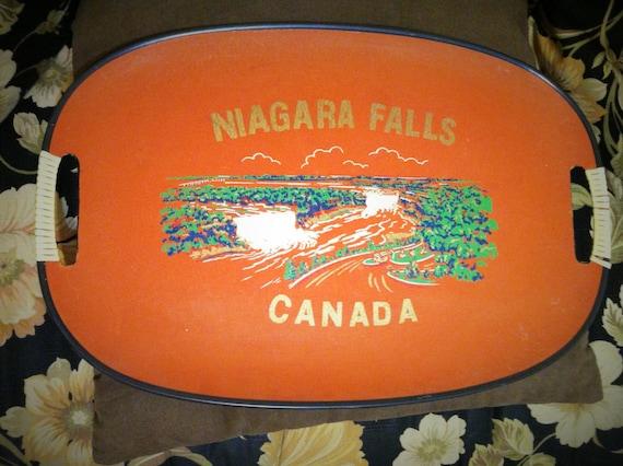 Vintage Niagara Falls Serving Tray