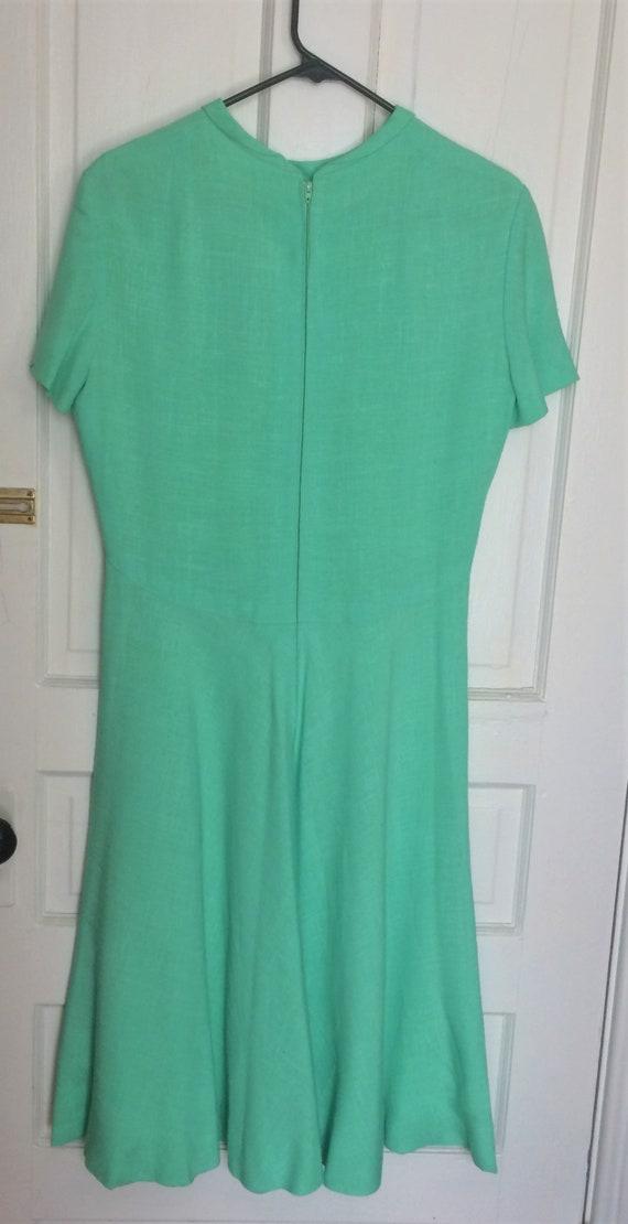 Pauline Trigere 1950's Vintage Linen Dress Mint G… - image 4