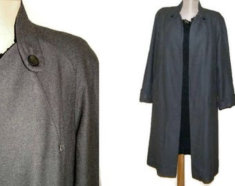 Jahrgang Fallen Plus Größe Mantel Oversize Mantel Grau Wolle Swinger Mantel  Wolle Grau Herbst Mantel Abdecken Der 1950er Jahre Crombie Mantel