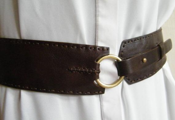 Brown leather belt designer belt Johnny Farah belt