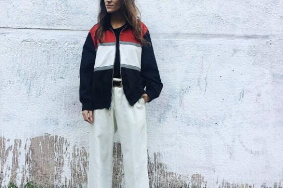 Vintage 90s Bomber jacket, Panelled Bomber Jacket,