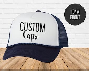 buy popular 080d6 65631 Custom Trucker Hat - Custom Trucker Cap - Custom trucker hat for women -  Trucker Hat - Caps and Hats - Trucker hat custom - Heat Vinyl Print