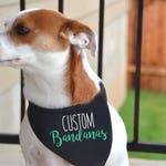 Custom Dog Bandanas / Tie on Dog Bandana / Dog Bandana Personalized / Dog Scarf / Custom bandanas / Dog apparel / Dogs Bandana