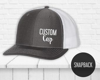 ddce5ca4 Snapback hat custom printing - Custom caps - Trucker hats - Unisex Trucker  Caps - Richardson Trucker Hat - Heat Vinyl Print hats