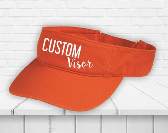 Custom visor - Custom visor Unisex - Custom caps - Custom hats - Custom hat printing - Visors - Visors for women - Heat Vinyl Print