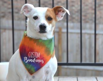 Custom Dog Bandanas | Personalize your dog bandanas with your own text, graphic or logo | Custom bandanas | Dog apparel |  Pet bandannas