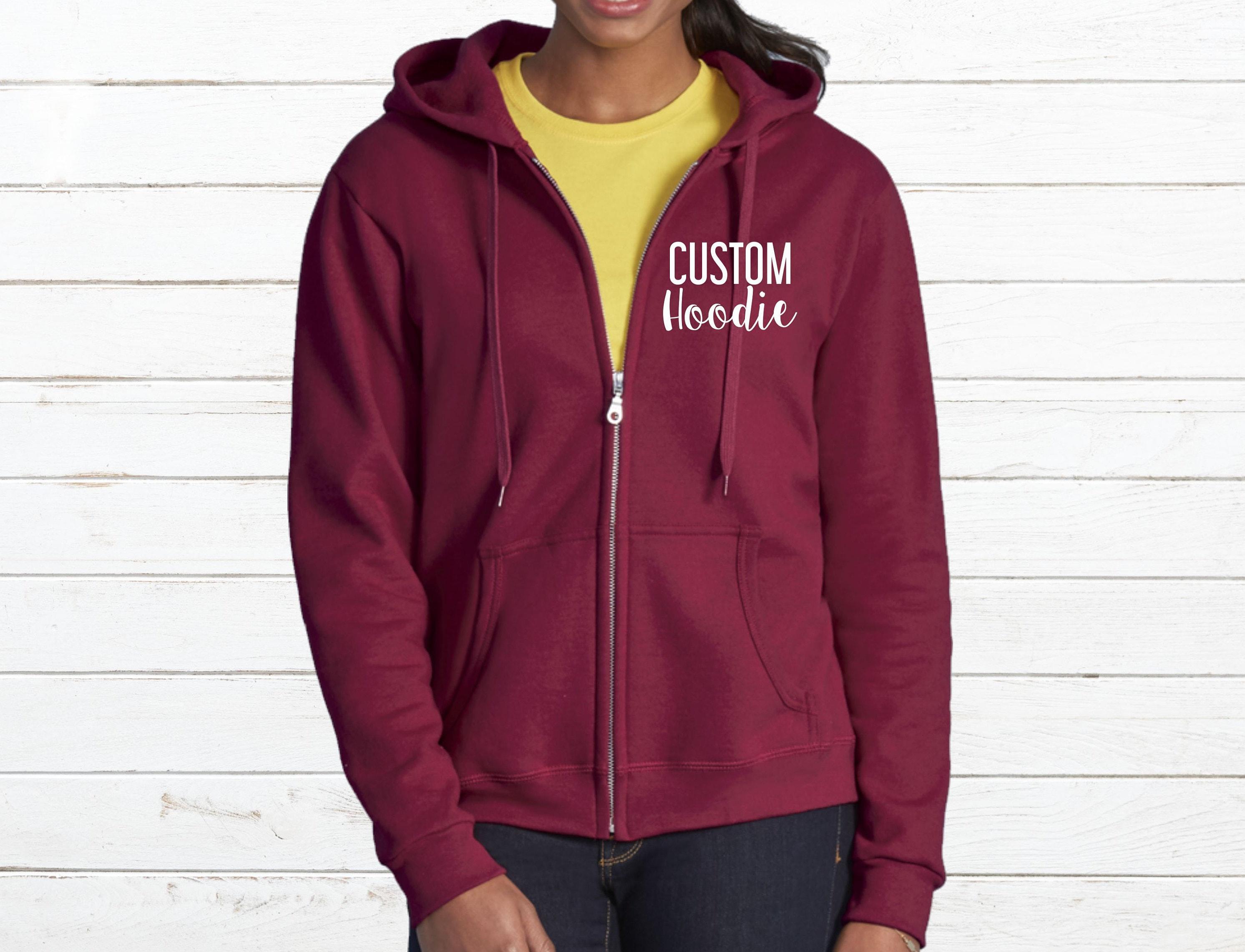 Custom zip up hoodie Custom zip up sweatshirt Zip up  5477b7c1aa