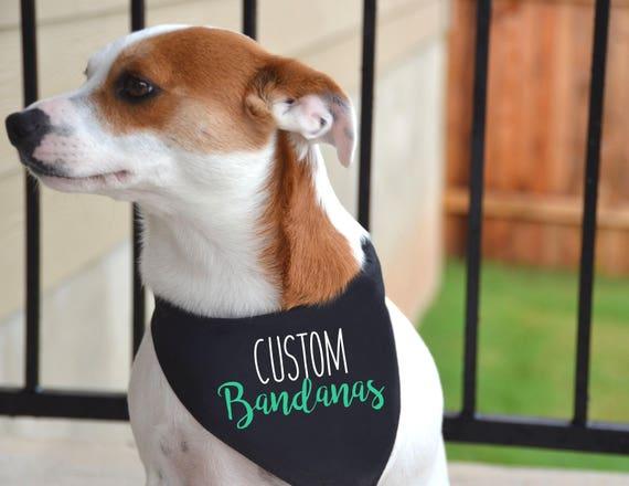 Personalized Dog Bandana Dog Scarf Dog Bandanas Dog Accessories Personalised Dog Bandana Dog ID Tag Pet Accessories Dog Clothes