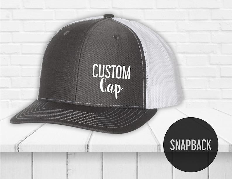 554c15a162a Snapback hat custom printing Custom caps Trucker cap