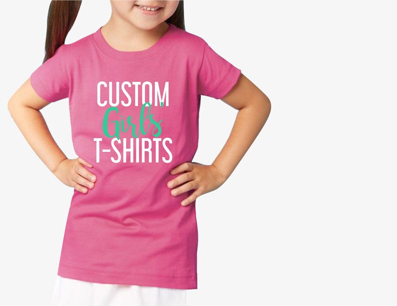 10ecd9298737 Custom Toddler Girls Fine T-shirt printing   Custom