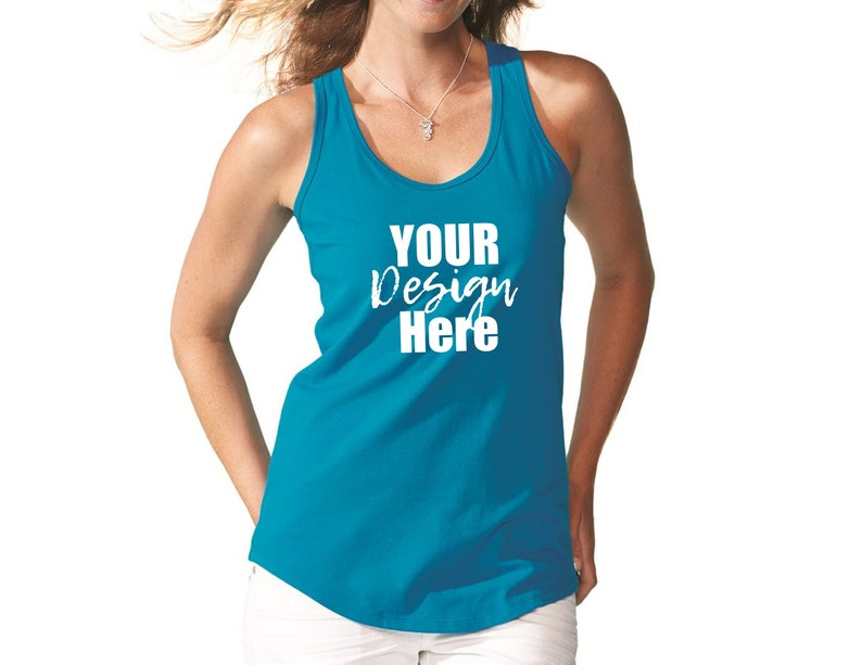 140da1f08cafd Racerback tank top   FRONT and BACK printing   Graphic tanks