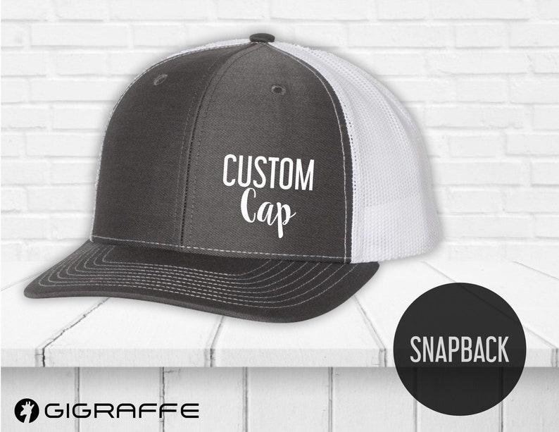 0c89126704ccf1 Snapback hat custom printing Custom caps Trucker hats | Etsy