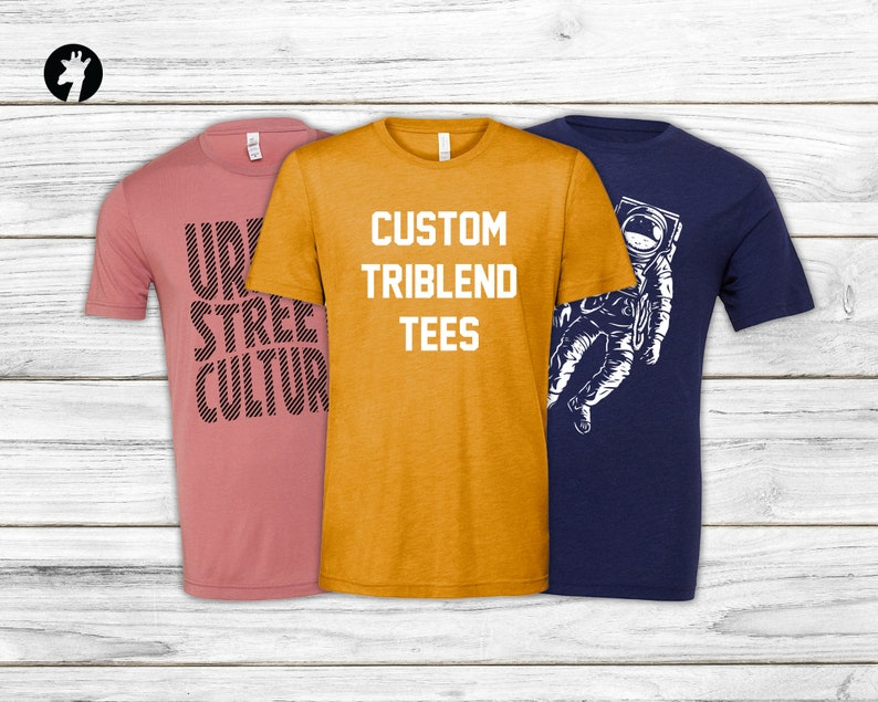 Custom Triblend t-shirts  Bella Canvas Tees  Soft Shirts  image 0