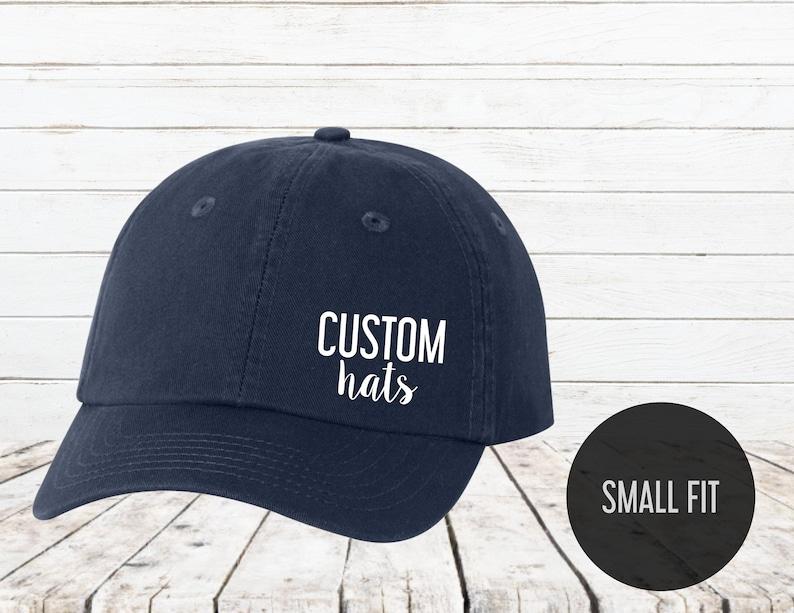 Custom hat print Small Fit Cap Custom Youth Hat Custom  7e3f9383f3