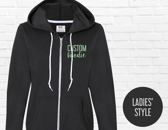 Custom LADIES Zip Up hoodies   Women Full Zip Hooded  664b86c35a
