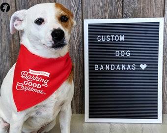 Christmas Dog Bandanas / Tie on Dog Bandana / Dog Bandana Personalized / Dog Scarf / Custom bandanas / Dog apparel /Christmas Dog Bandana