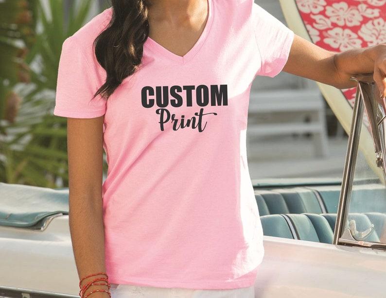 f61ab7b93 Custom v-neck t-shirt printing   Custom t-shirt design