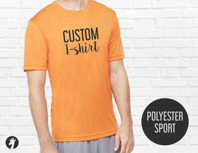 8b397524 Custom T-shirts Performance shirt with custom design | Etsy
