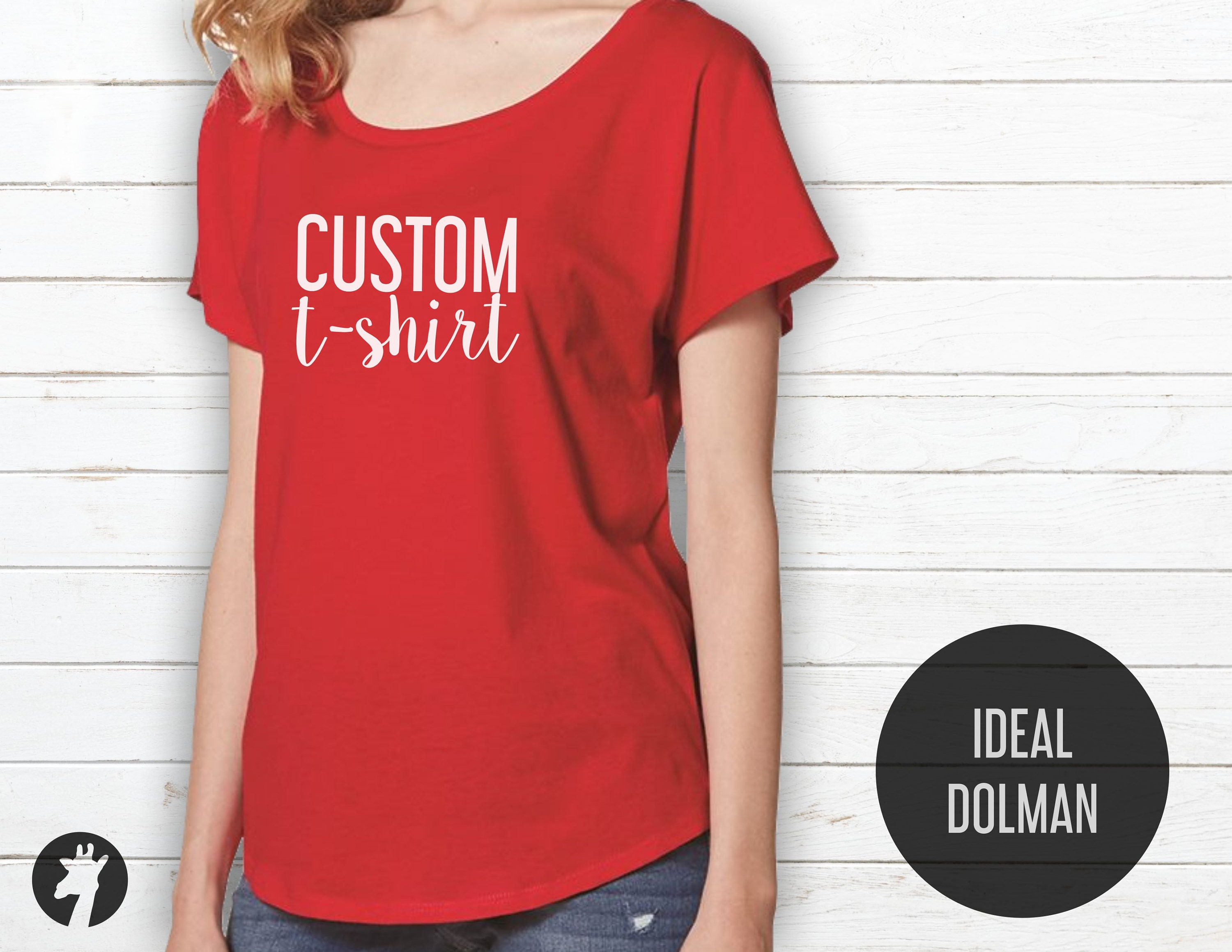 Custom Shirts Custom Dolman Shirt Custom Dolman Sleeve Top Etsy