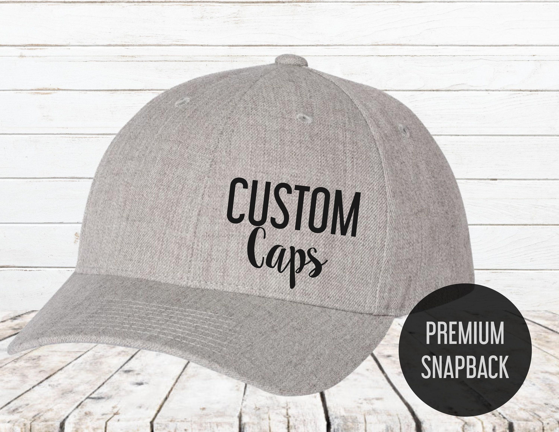Snapback Cap Premium Visor Custom hats Custom Snapback  e91d43282ab