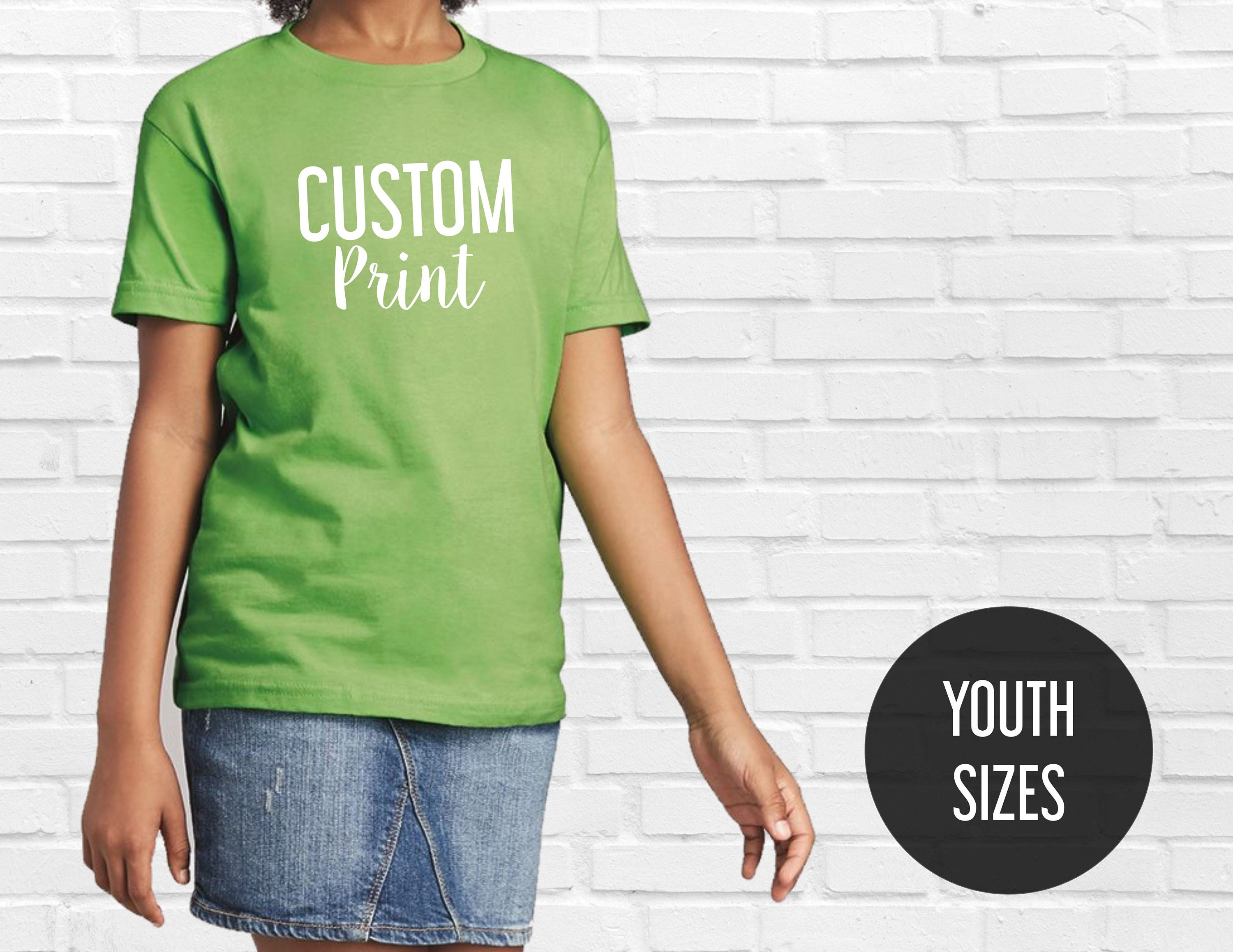 Custom Youth T Shirts Custom T Shirt Kids Custom Youth Etsy