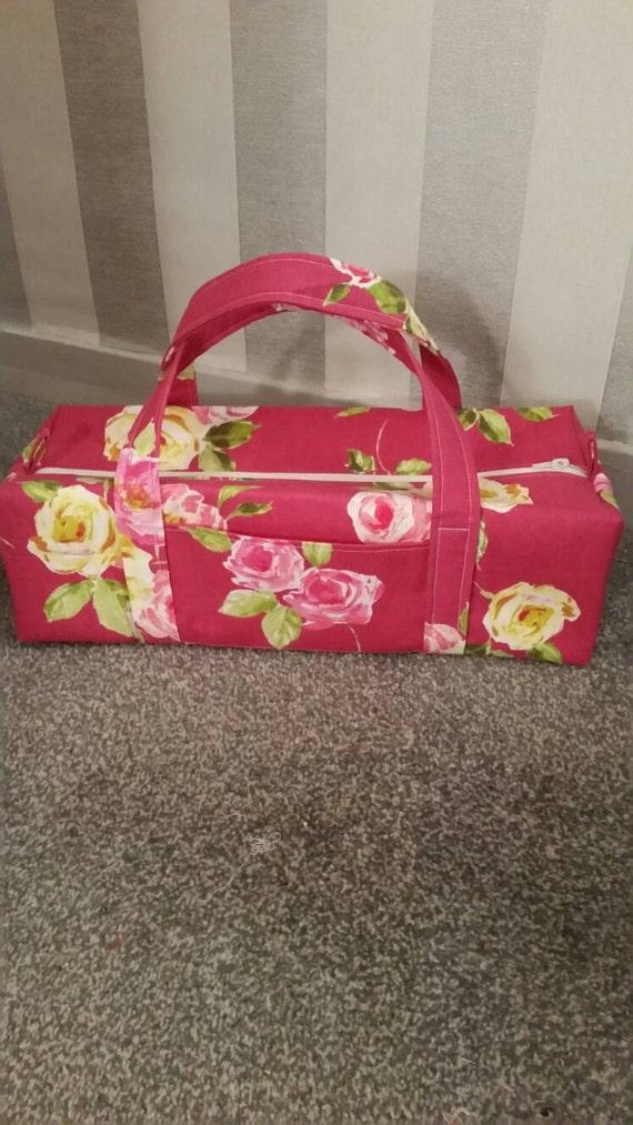 Large Knitting Needleyarn Bag Cotton Rose Pattern Fabric Etsy