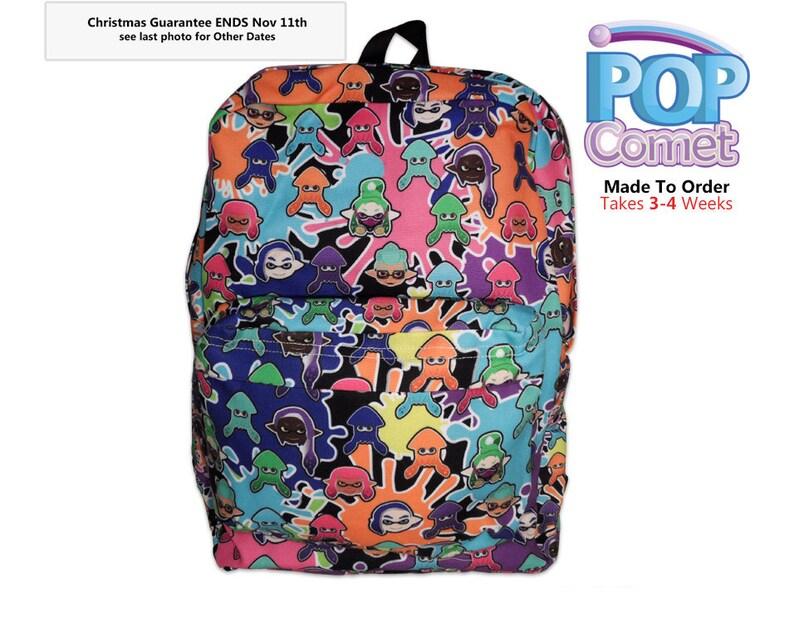 82c58ae627f2 Splatoon 2 Inspired Backpack Splatoon Print Backpack Inkling