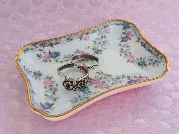 J Vintage Jewelry Dish Trinket Dish Fine Bone China COALPORT Made In England