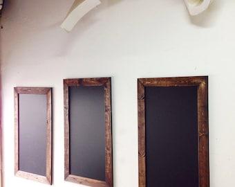 "24"" x 48"" Chalkboard Menu Board Rustic yet clean"