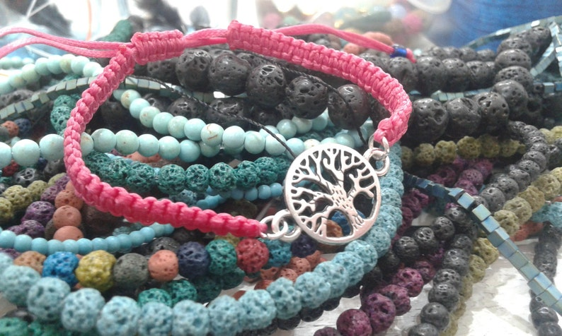 Tree of life Life bracelet Tree bracelet Bracelet with tree Bracelet of life Tree of life jewelry Silver tree of life Tree charm with cord