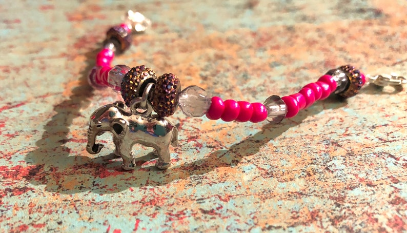 Elephant with pink Medical Alert Replacement Bracelet