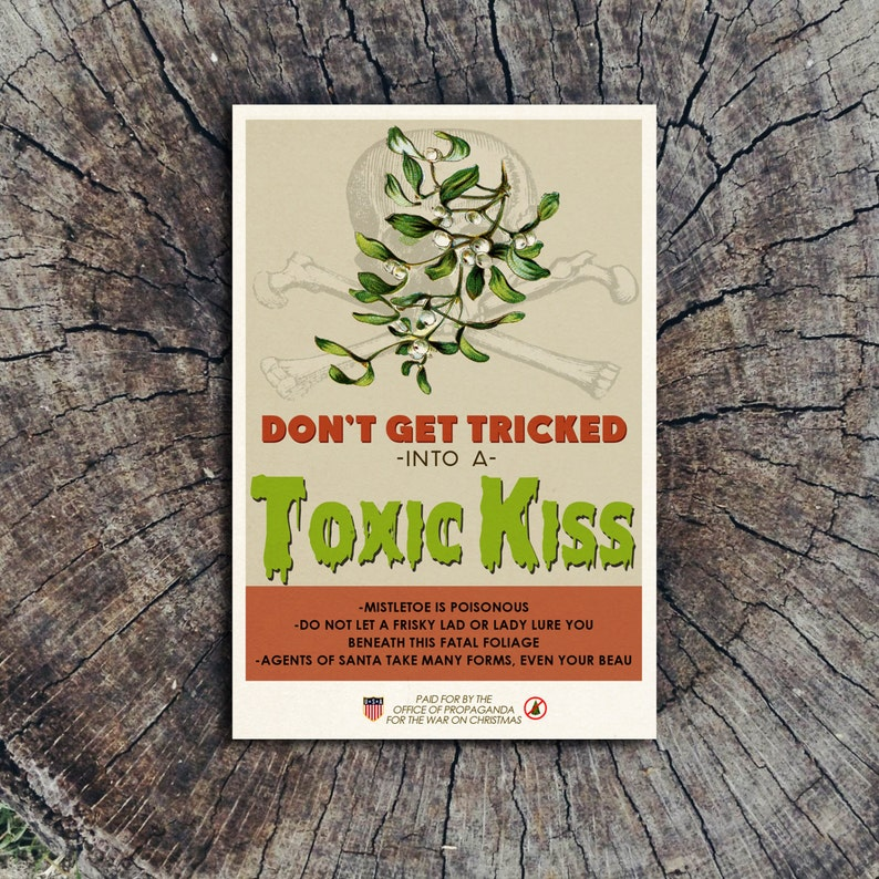 Don't Get Tricked Into a Toxic Kiss // Postcard image 0