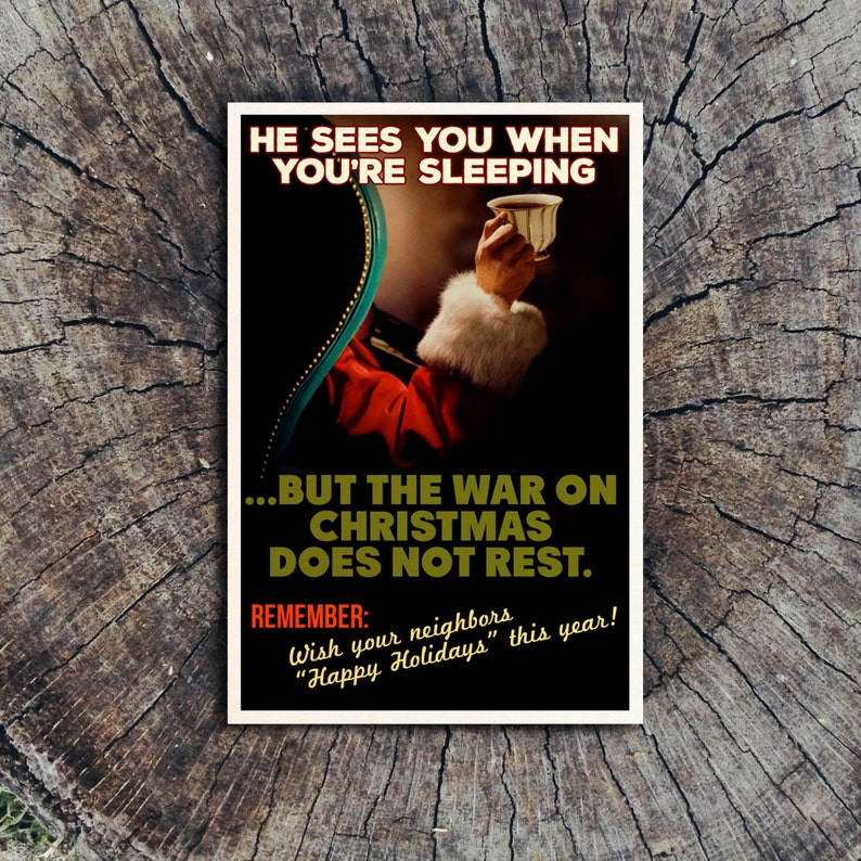 The War On Christmas Does Not Rest // Postcard image 0