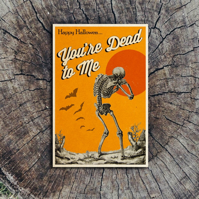 You're Dead to Me // Halloween Postcard image 0