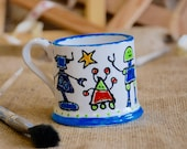 Personalised Children's Robot Mug