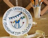 Personalised Rocking Horse Christening Plate