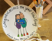 Personalised New Baby Pla...