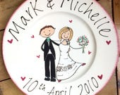 Wedding Anniversary Plate Customised Personalised Design Ceramic Plate