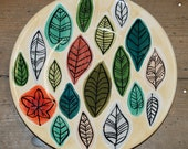 Stylised Leaf Design Plate