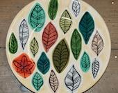 Stylised Leaf Design Plat...