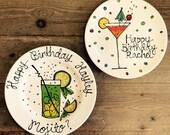 Birthday Cocktail Plate...