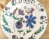 Children's Bird Design Gift Plate