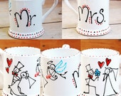Set of 2 Mr and Mrs Mugs