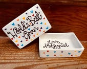 Personalised trinket dish trinket box