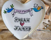 Heart Plate Wedding Gift