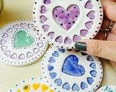 Large Hand Made Ceramic Charm Keep Sake