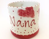 Personalised Red Heart Mug