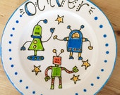 Personalised Children's Robot Plate