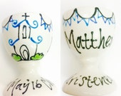 Boys, Personalised Christening Egg Cup